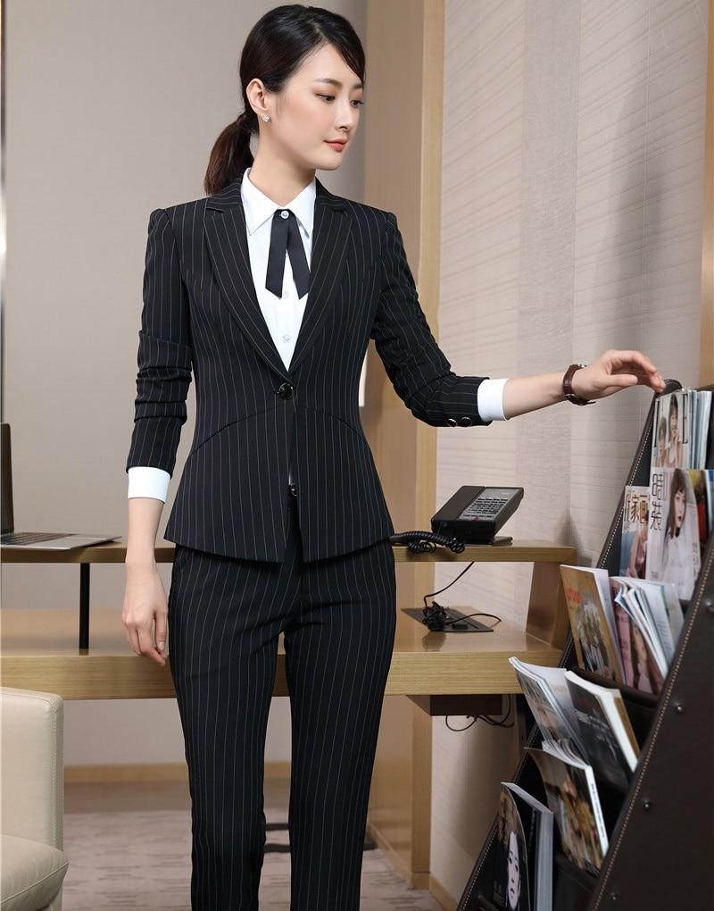 Aliexpress.com  Buy New Style 2018 Office Uniform Designs Women Pant Suits Black Blazer And ...