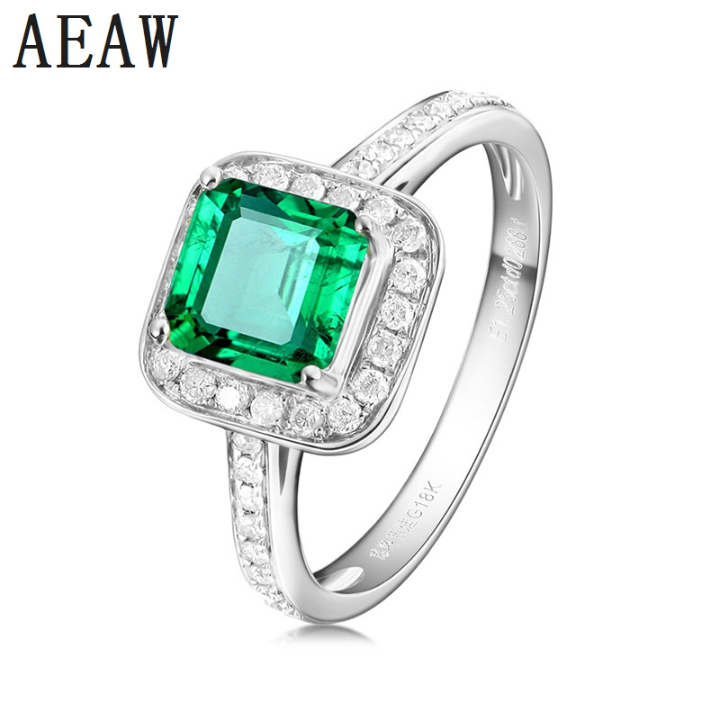 3.0 CT Colombian Lab Created Emerald Ring in 14k White Gold with Gift box,Elegant Engagement Ring with Moissanite Fine Jewelry3.0 CT Colombian Lab Created Emerald Ring in 14k White Gold with Gift box,Elegant Engagement Ring with Moissanite Fine Jewelry