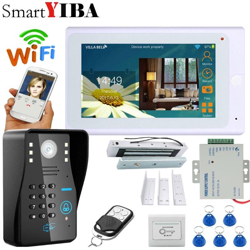 SmartYIBA Video Intercom 7 Inch Monitor Wifi Wireless Video Door Phone Doorbell Camera Intercom System APP