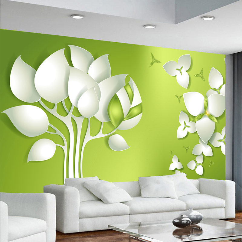 Office Wall Background Design : Aliexpress buy d stereo abstract tree flower tv