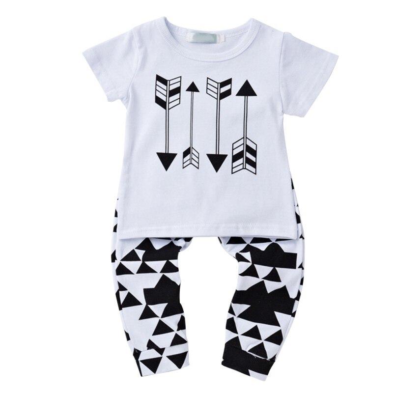 Girl Clothing Suits Short-Sleeve Baby-Set Children Fashion Cotton Newborn-Baby