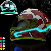 DIY Motorcycle Helmet LED Light Stripes Lamp Stickers Belt Night Riding Safety S