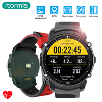 Itormis GPS Bluetooth Smart Sport Fitness Watch Smartwatch Bracelet Fitness Tracker Waterproof Heart Rate Compass Altimeter