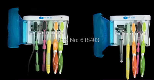 UV Light Toothbrush Sterilizer For Toothbrush Sterilization Dental Hygiene  Bacteria Automatic Power Off  toothpaste dispenser