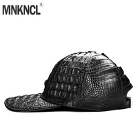 MNKNCL High Quality 100% Crocodile Leather Baseball Cap Men Sport Hat Luxury Brand Hats