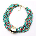 6 Colors New Arrival Fashion Bohemian Multilayer  Beaded Necklace For Women European and American Temperament CC2805