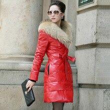 Women Winter Jacket Thicken Leather