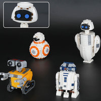03073 Star Wars Movie Series The Four Robots In One Set Compatible Building Blocks Bricks Funny