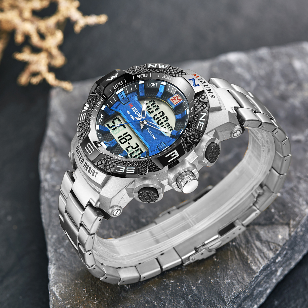 wholesale Military Watches Men Luxury Brand Full Steel Watch Sports Quartz Multi-function LED Waterpoof Gold Wristwatch Relogio Masculino 2019 drop shipping (26)