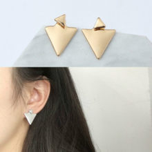 Punk Black Gold Silver Earrings Simple T Bar Earring Women Girl Ear Stud Earrings Fine Jewelry Brincos Bijoux Femme 2017(China)