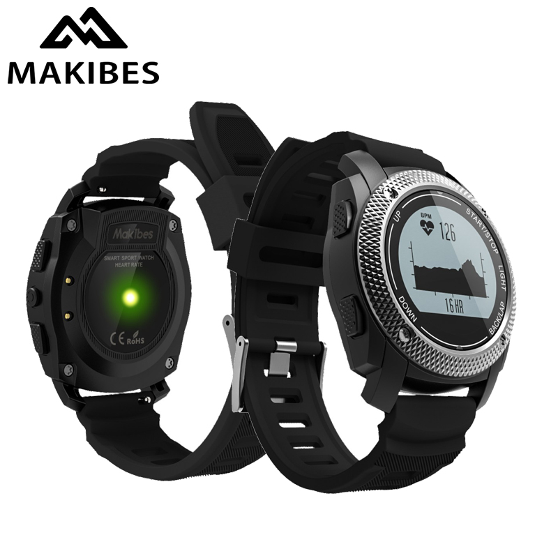 Makibes G02 GPS Smart Watch GPS tracker Heart Rate Monitor Men Smartwatch Sport Watch Wearable Devices For ios for Android lemfo dm360 smart watch wearable devices bluetooth smartwatch heart rate monitor pedometer fitness tracker for ios android hot