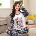 Nueva Primavera y Otoño womem pijamas de Dibujos Animados Lindo pijama de dormir de la niña pijamas polar de coral femenina Seda de la Leche envío gratis