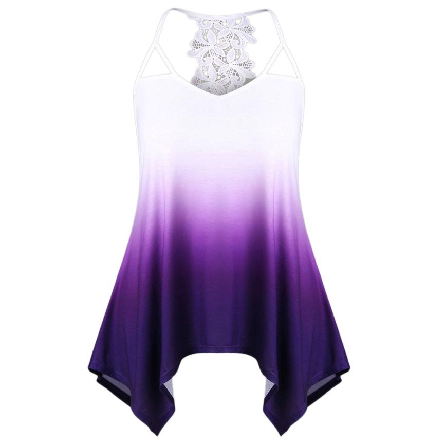 feitong Tank Top Women 2018 vest women sexy top lace sexy tanks tops female  plus size eedc39861a98