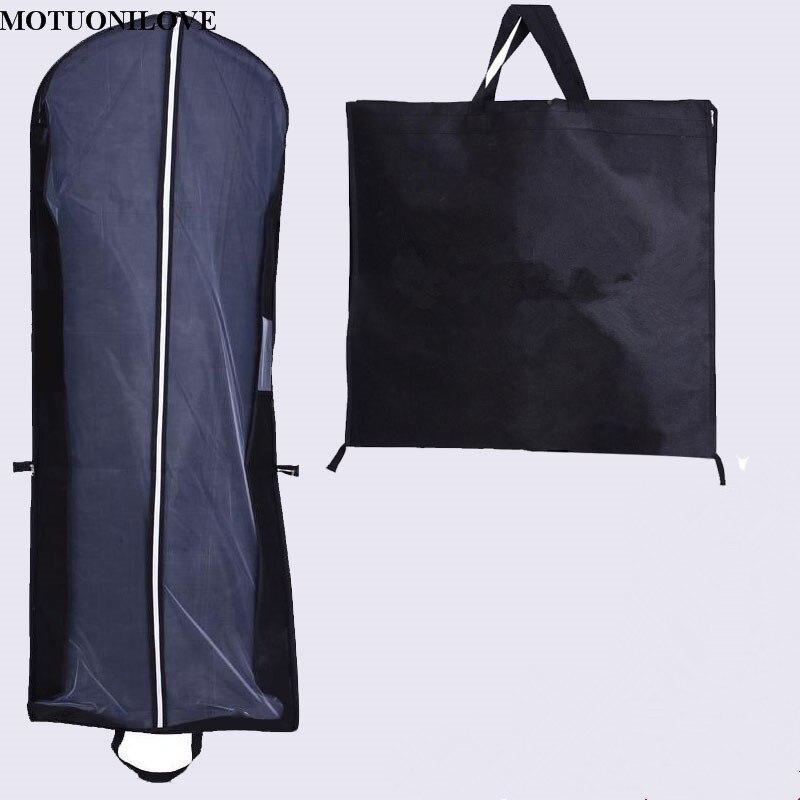 Barato portátil Zip ropa de almacenamiento transpirable a prueba de polvo bolsa plegable vestido de novia bolsas de cubierta de polvo ropa no tejida impresión Logo