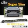 CO LIGHT Super Slim 6D 20 Inch 90W Led Light Bar Combo Led Beams Auto Work