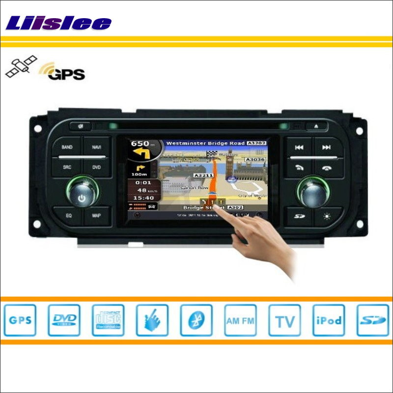 Liislee Car Radio DVD Player GPS Nav Navigation For Chrysler Voyager 2001~2007 TV iPod USB Bluetooth HD Screen Multimedia System