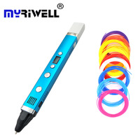 Myriwell 3D Pen USB  Creative Caneta Pen 3D graffiti pen Digital 4 speed regulation Best Gift For Kids 3nd 3d printing pen hot|3D Pens| |  -