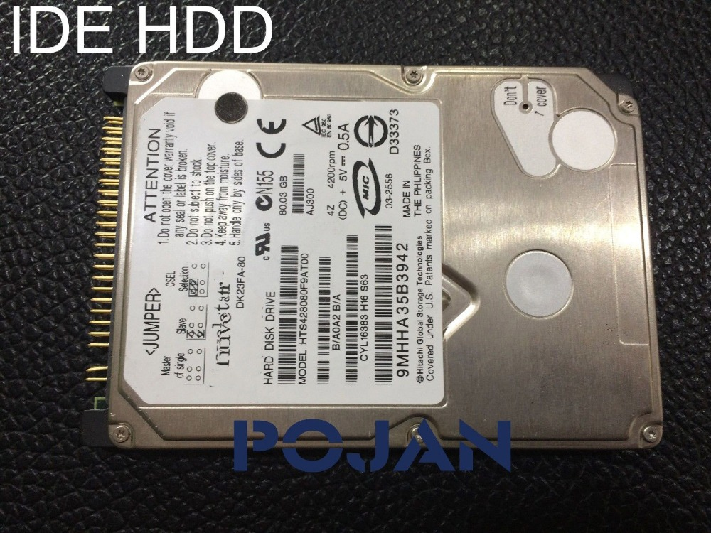 HDD IDE Designjet T1100 T1100PS T610 Q6683-67030 Hard drive disk 40G & 80G with FW ink printer plotter parts