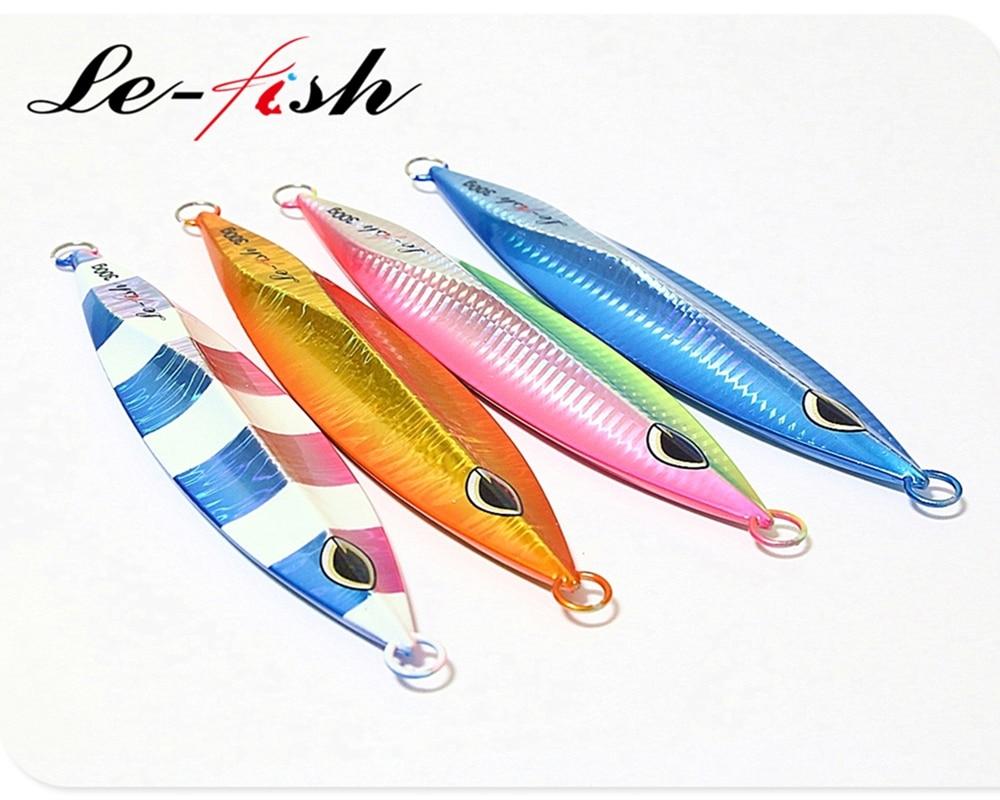 Le-Fish 300g High Quality lure  Slow Jigging lure Lead jig lure  Luminous Sea Fishing  Lure