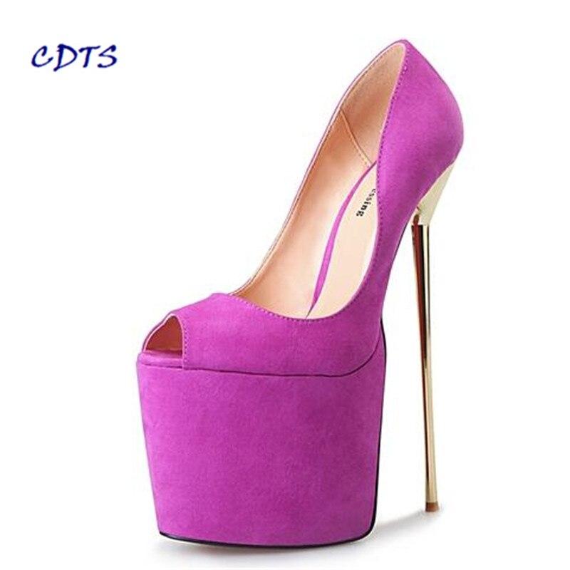 CDTS Plus:40-45 46 47 48 49 50 New Stilettos platforms Flock Sandals 22cm Metal Thin heels shoes woman Crossdress wedding pumps promoitalia пировиноградный пилинг pro plus пировиноградный пилинг pro plus 50 мл 50 мл 45%