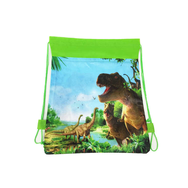1pc Cartoon Dinosaur Drawstring Bags Kids Backpacks Clothes Shoes Storage School Bags Gifts Children Organizer Pouch Laundry Bag