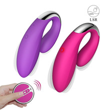 Silicone G spot Wireless Vibrator For Female, 16 Meter Remote Double Clitoral Vibrator, Adult Massager Sex Toy For Women