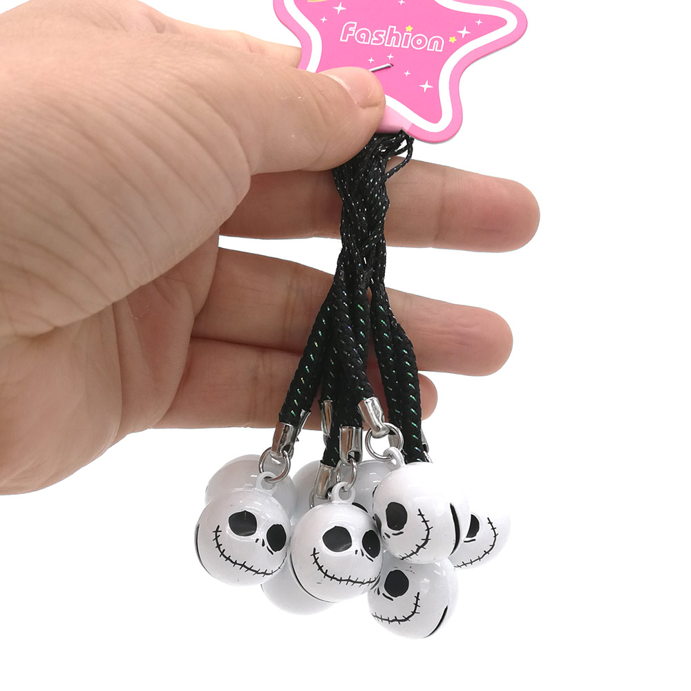 10Pcs Jack Nightmare Before Christmas JINGLE BELLS Dangle Charms Cell Phone Strap Toys ZYNN