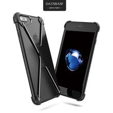 Oatsbasf x Форма чехол для iPhone 6 Чехол личность В виде ракушки для iPhone 7/iPhone 7 Plus Metal бампера Чехлы с стекло фильм