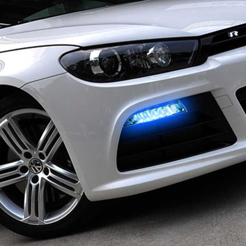 ROADOT For Volkswagen Scirocco R 2010 - 2014 Car Led DRL Daytime Running Lights yellow turn Signal lamp driving Daylight