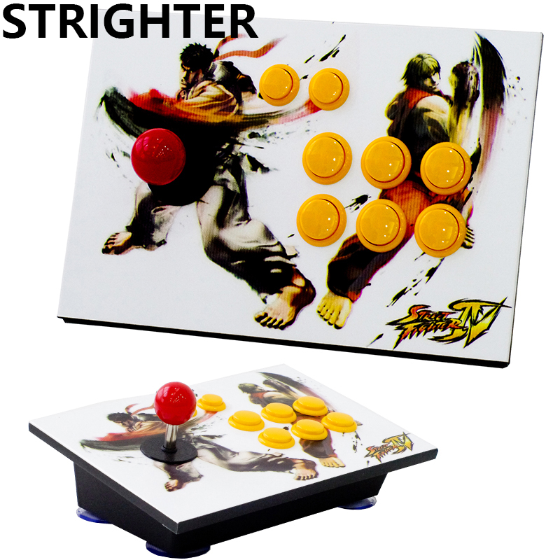 все цены на arcade joystick 8 buttons street fighters pc controller computer game Joystick Consoles онлайн