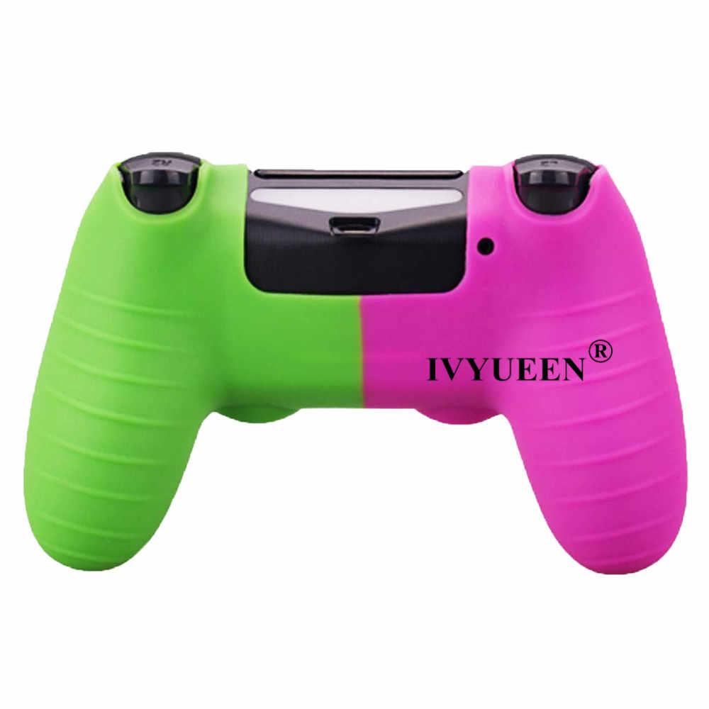 Силиконовый чехол IVYUEEN для Dualshock 4 PS4 Pro, тонкий чехол для контроллера и ручки для большого пальца, колпачки для playstation 4, аксессуары для игр