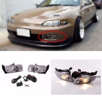 JanDeNing Car Fog Lights for Honda Civic 1992 1995 Halogen bulb Front Fog Lights Bumper Lamps Kit