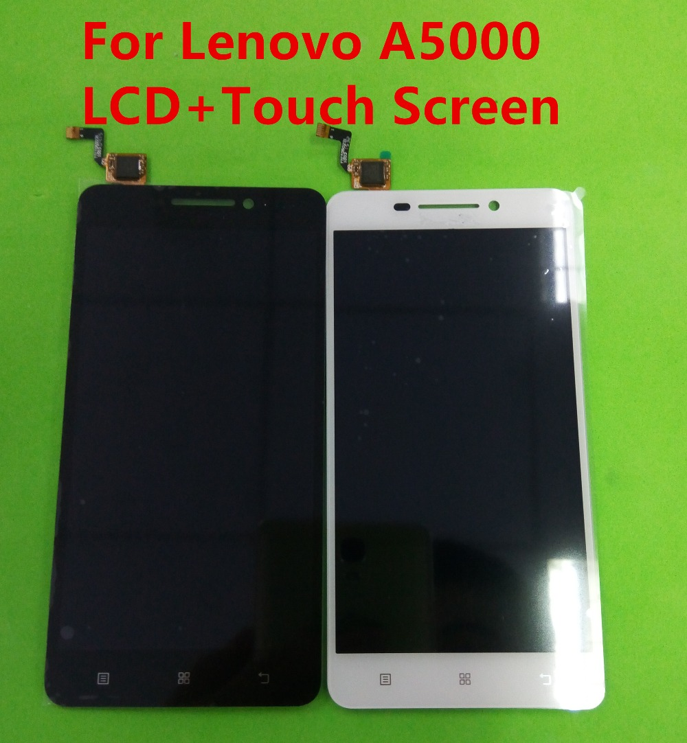 For Lenovo A5000 LCD Display Touch Screen Digitizer Assembly repair replacement orignal parts white Wholesale