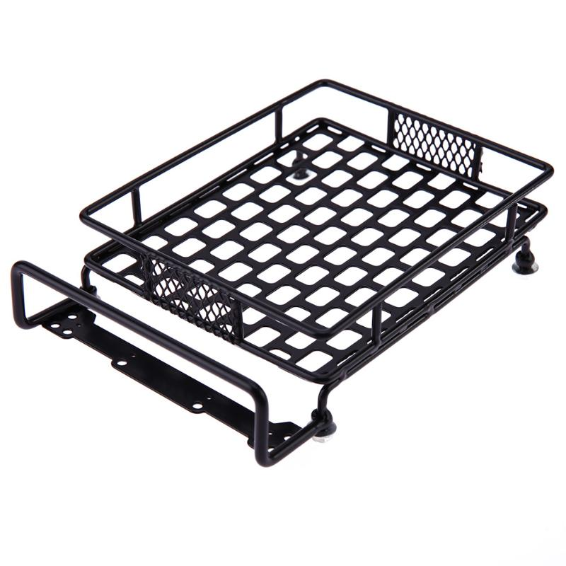 Metal Roof Luggage Rack for Axial SCX10 TAMIYA CC01 RC4WD D90 D110 TF2 RC Simulation Car Crawler Parts auxmart car roof rack cross bar for honda odyssey 2011 2017 top roof boxes 44 auto load cargo luggage carrier bike rack 132lbs