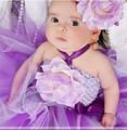Elegant Girl Dress Girls Summer Fashion Lace Big Flower Party Tulle+Flower Hair Band Princess Causal Dresses Baby Girl Dress