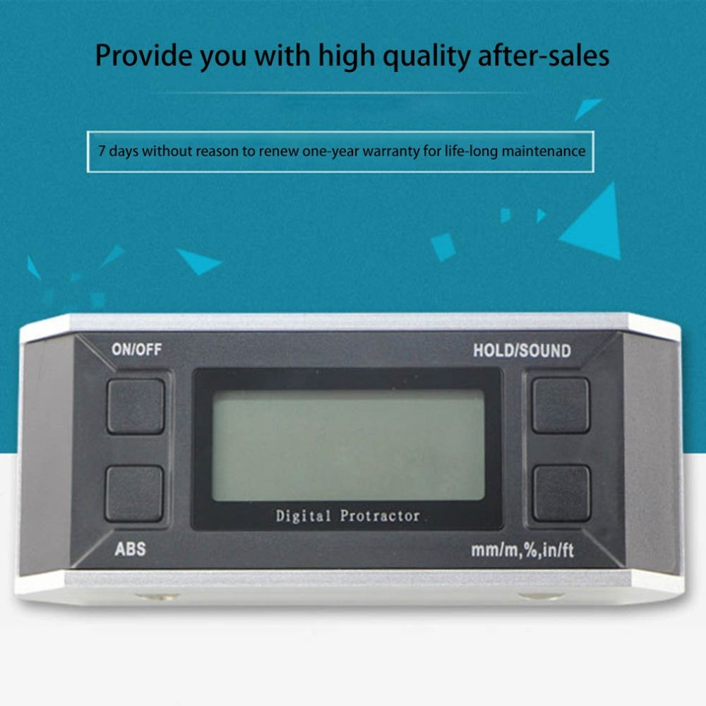 Mini Digital Protractor Precise Inclinometer Electronic Angle Meter Level Box Magnetic Base Measuring Tools