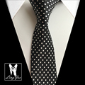 High Fashion Polka Dots Ties Slim Neckties Narrow Black White Neck Tie Wholesale Free Shipping