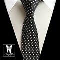 High Fashion Polka Dots Ties Slim Neckties Narrow Black White Neck Tie Wholesale Free Shipping