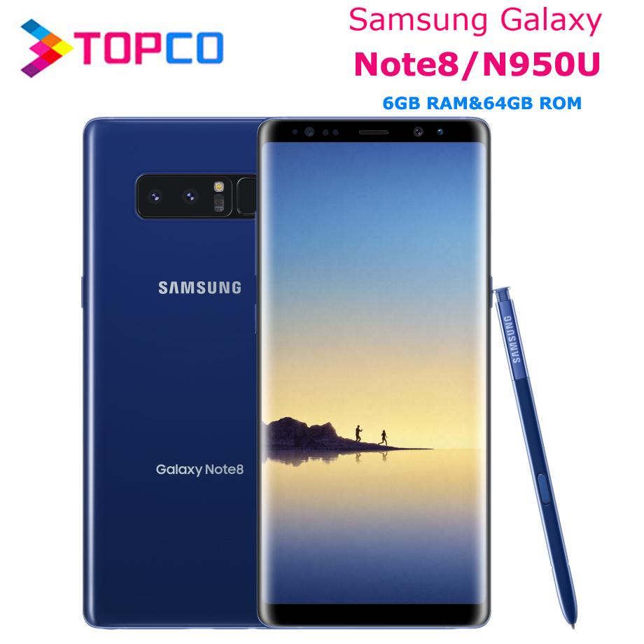 "Samsung Galaxy Note8 Note 8 N950U Unlocked 4G LTE Android Phone Octa Core 6.3"" Dual 12MP Back Cameras RAM 6GB ROM 64GB 3300mAh(China)"