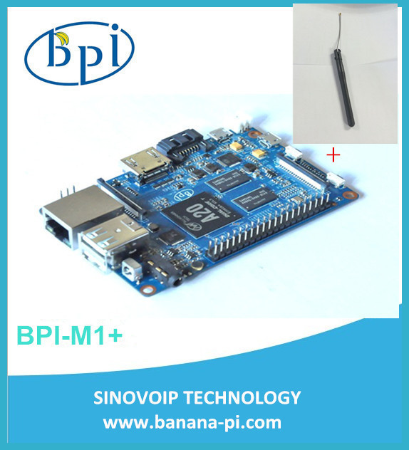 In stock! BPI-M1+ Banana Pi M1+ A20 Dual Core 1GB RAM on-board wifi singel-board computer SBC (NOT Banana Pro)+2DB Antenna