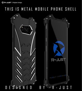 R-JUST Batman Rugged Outdoor Metal Aluminum Shockproof Anti-Scratch Kickstand Case Cover Frame for Samsung Galaxy S8 S8+ Plus image