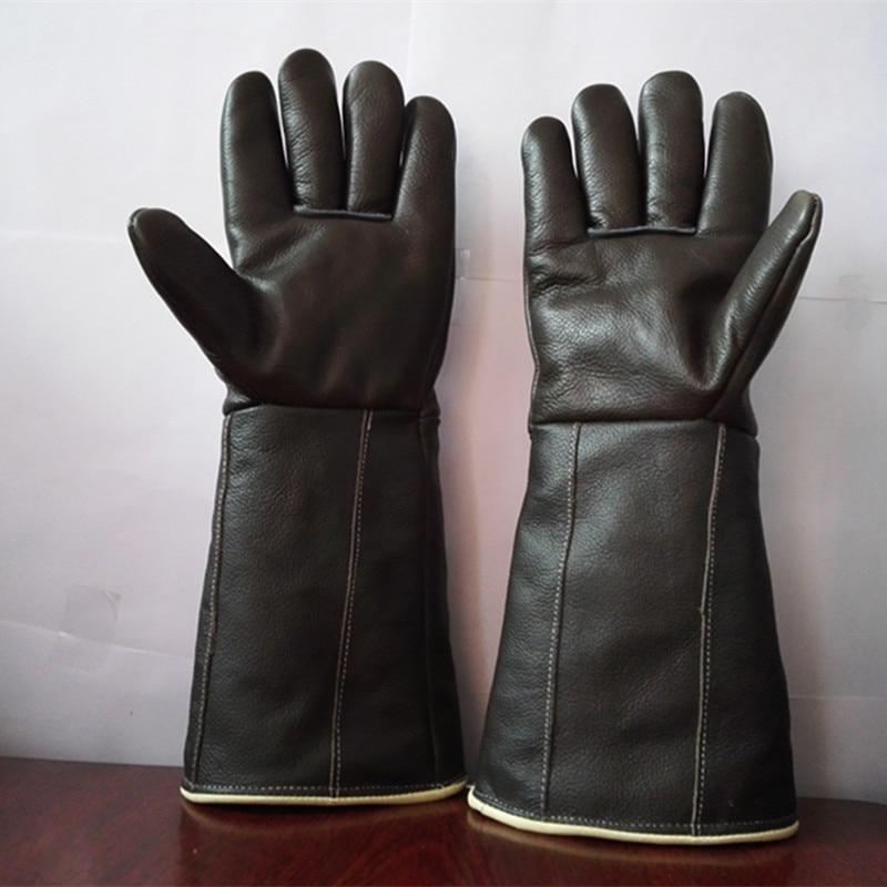 Envío gratis venta caliente alargar 42 cm guantes de cuero genuino - Juegos de herramientas - foto 2