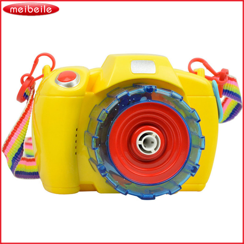 Electric Bubble toy Camera Blowing Bubbles In Shinning Light & Music Electric Bubble Gun Juguetes Best gift For Childrens