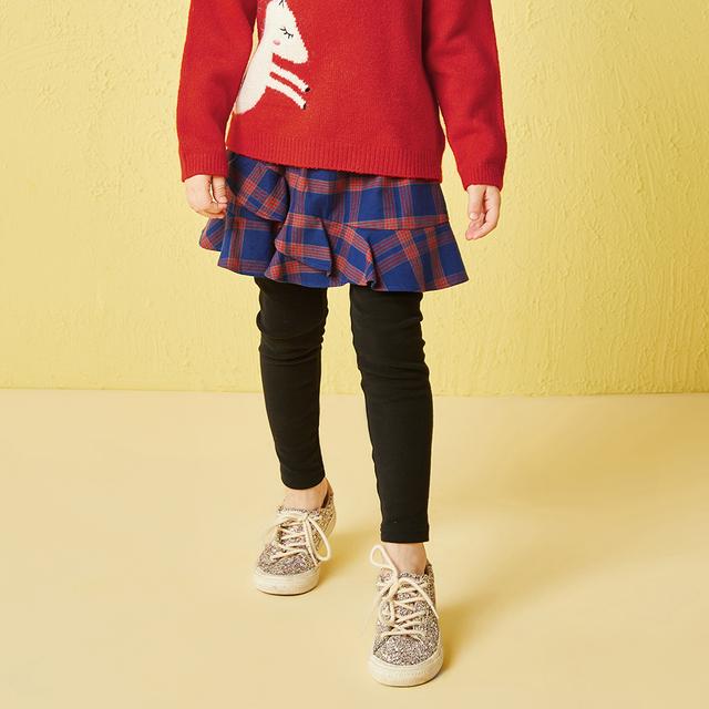 Balabala culottes for girls toddler kids bottoms pants for children girls skinny sweatpants plaid girls plaid dress trousers