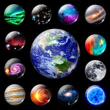 Светящаяся планета луна звезды магнит на холодильник Туманность галактика Вселенная декоративные магниты на холодильник доска объявлений наклейки светящиеся