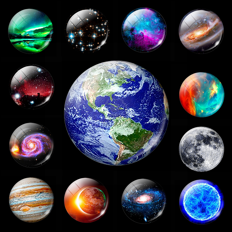 Luminous Planet Moon Stars Fridge Magnet Nebula Galaxy Universe Decorative Refrigerator Magnets Message Board Stickers Glowing