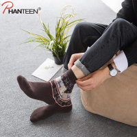 Phanteen Three Pairs A Set Deer Printed Man Christmas Socks Winter Thicken Wool Warm High Quality