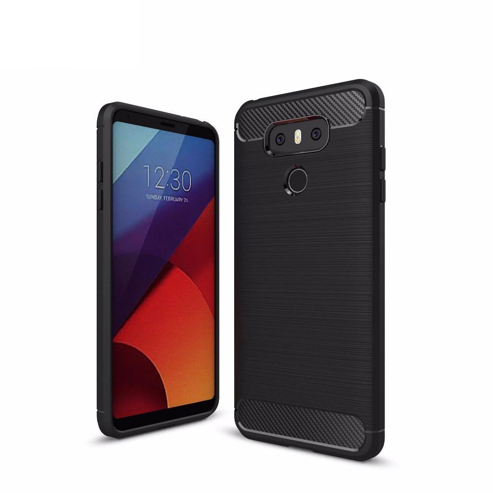 Pouzdro na telefon pro LG G6 uhlíkové vlákno kartáčovaný drát kresba silikonový kryt pro LG G 6 LGG6 5,7 palcový kryt mobilního telefonu