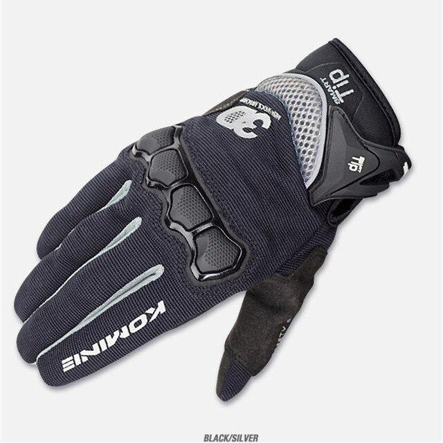 New Summer Touch Screen KOMINE GK162 3D Mesh TECHNOLOGY Motorcycle Rding glove motorbike Moto racing gloves M-XXL 3