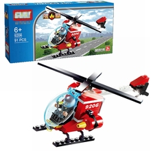 цена 91pcs fire helicopter assembling DIY helicopter building blocks brick children education Brinquedos children's toys
